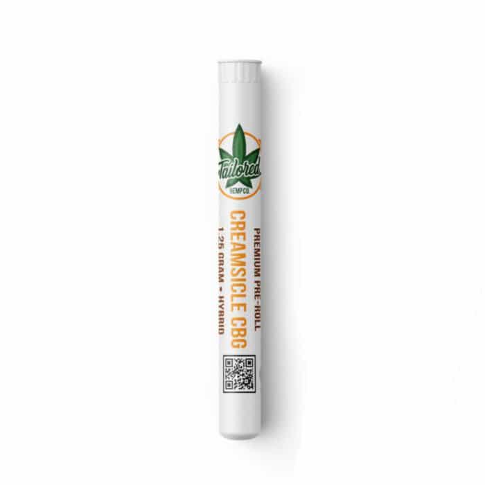 Top Shelf Hemp Flower Pre Roll - Creamsicle CBG
